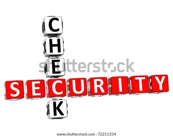 Security Check Crossword