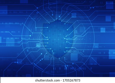 Security concept, Shield Lock on digital screen, Cyber Security Concept, Internet Security Background