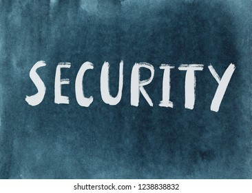 security concept word written on a watercolor texture background