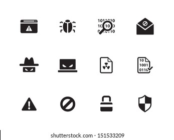 Security icons on white background. See also vector version.