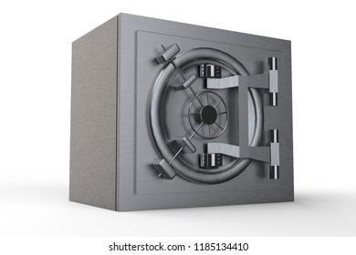 Security metal safe 3D rendering