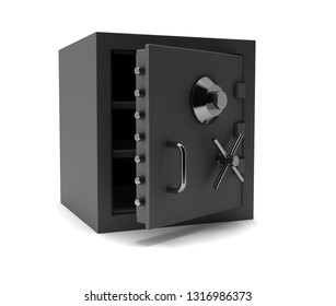security safe box. 3D rendering illustration