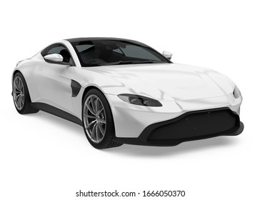 Sedan Car Isolated. 3D rendering