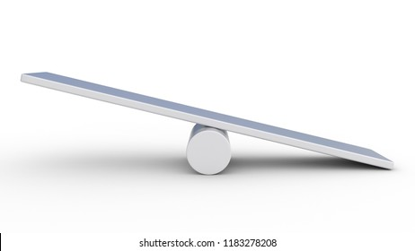 seesaw concept isolated on white background. Made with 3d rendering...