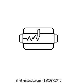 Seismometer seismic earthquake icon. Element of natural disaster icon