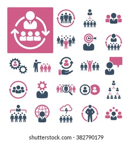 A selection of icons related to HR, Recruitment and Management.