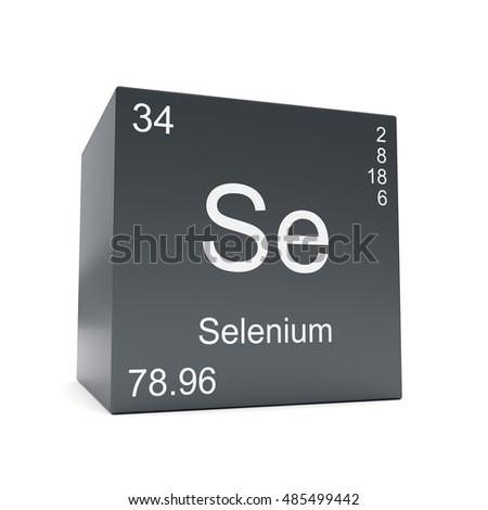 Selenium Chemical Element Symbol Periodic Table Stock Illustration