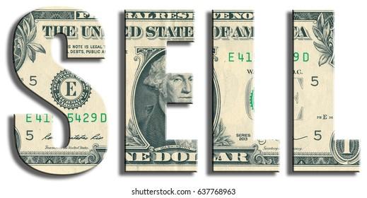 Sell. US Dollar texture.