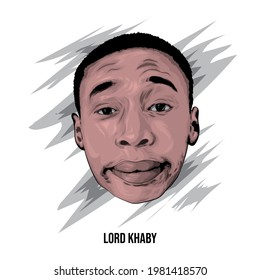 Semarang,Indonesia - June 28 2021  : Khaby Lame,a tik tok artist from Italy who is very famous in the world.