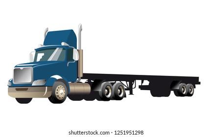 Semi Truck - BLUE