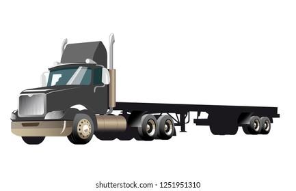 Semi Truck - GREY