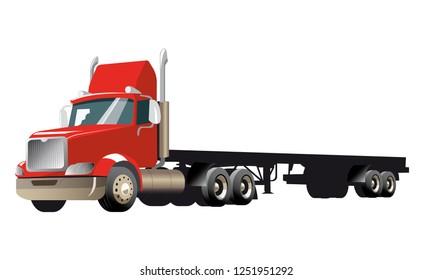 Semi Truck - RED