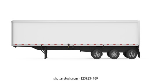 Semi-Trailer Container Isolated. 3D rendering