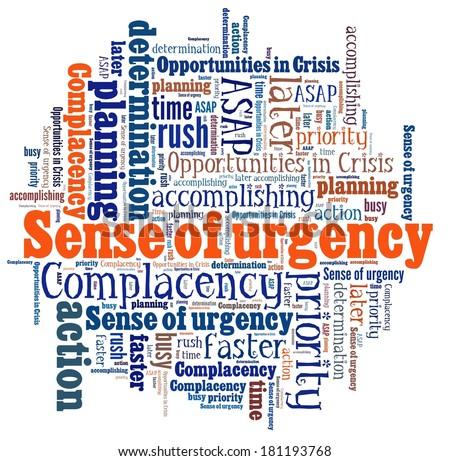 sense urgency word collage stock illustration 181193768 shutterstock
