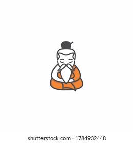 Sensei meditations logo inspiration design