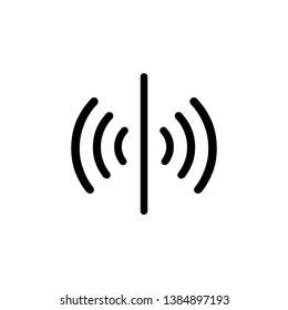 Sensor icon, signal symbol. Simple, flat design for web or mobile app