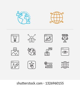 Cdn Icon Line Symbol Isolated Vector Stock Vector (Royalty Free