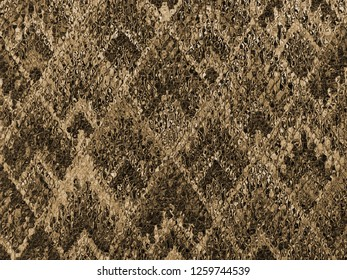 sepia background of Asian traditional pattern glassy in yellow and brown color, colorful layer of  trapezoid mosaic pattern background in earth tone