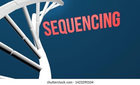 Sequence 3d render illustration concept