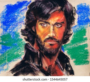 A series of famous discoverers. Marco Polo is an Italian merchant and traveler who presented the story of his trip to Asia in the famous Book on the Diversity of the World. Pastel Graphics Cardboard