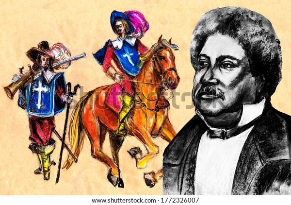 A series of great writers. Alexandre Dumas is a French writer, playwright and journalist.