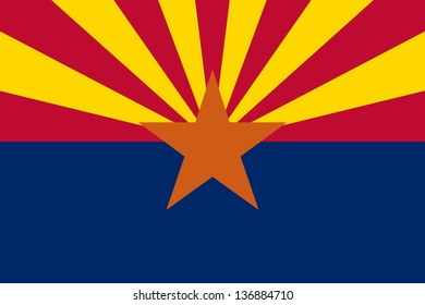 Series of the states flag in the US - Arizona