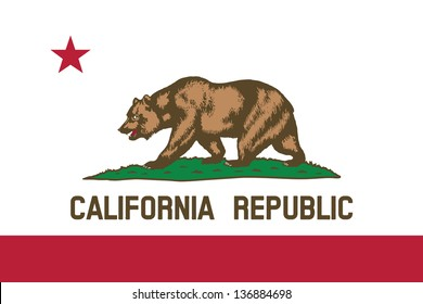 Series of the states flag in the US - California