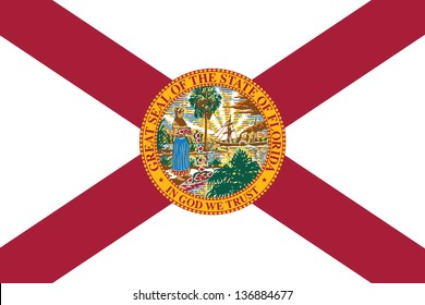 Series of the states flag in the US - Florida