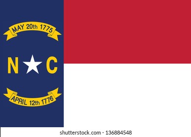 Series of the states flag in the US - North Carolina