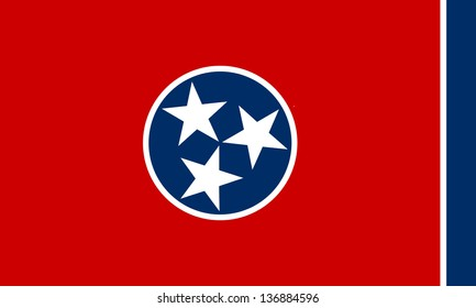 Series of the states flag in the US - Tennessee