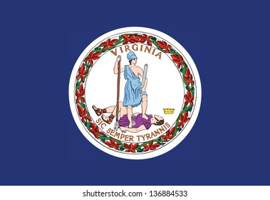 Series of the states flag in the US - Virginia