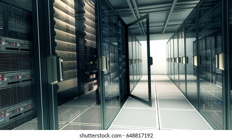 server room;  3d illustration