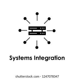 server, system integration icon. Element of business icon for mobile concept and web apps. Detailed server, system integration icon can be used for web and mobile