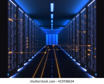Server system network A 3D rendering