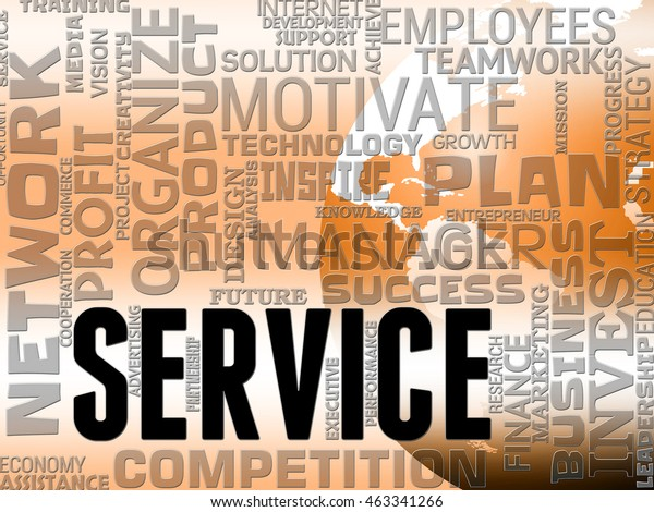Server Words Representing Business Maintain Service Stock