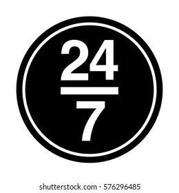 service 24-7 icon