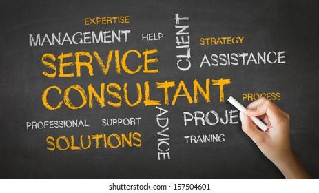 Service Consultant Chalk Illustration