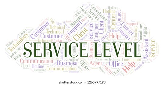 Service Level word cloud.