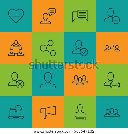 Royalty Free Stock Illustration of Set 16 Social Icons