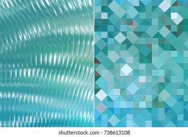 Set 2 of blue abstract backgrounds digital illustration.