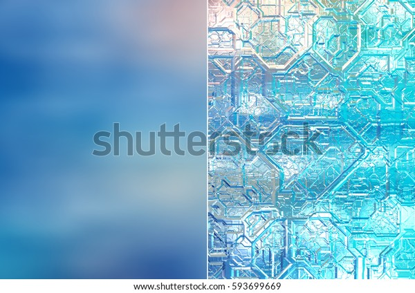 Set 2 of blue abstract backgrounds digital illustration.