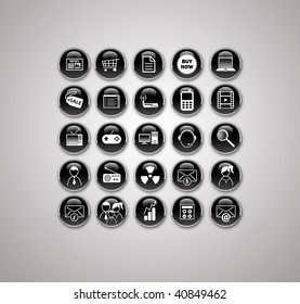 set of 25 most popular icons on the web / black