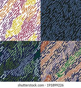 set of 4 colorful prints