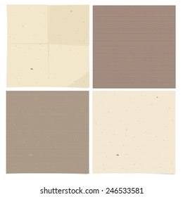 Set of 4 sheets of kraft paper in beige tones