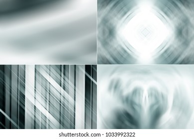 Set of abstract dark grey background. 4 banners. Illustration for design.