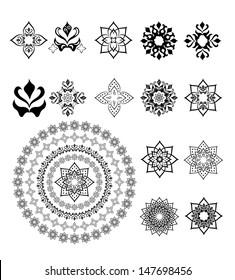 Set of arabic ornament for decoration