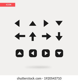 Set of arrow icons on a white background