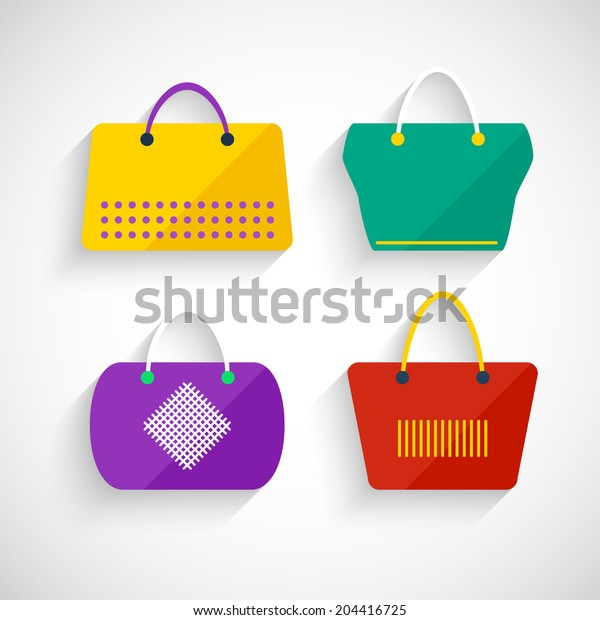 Set bags flat style