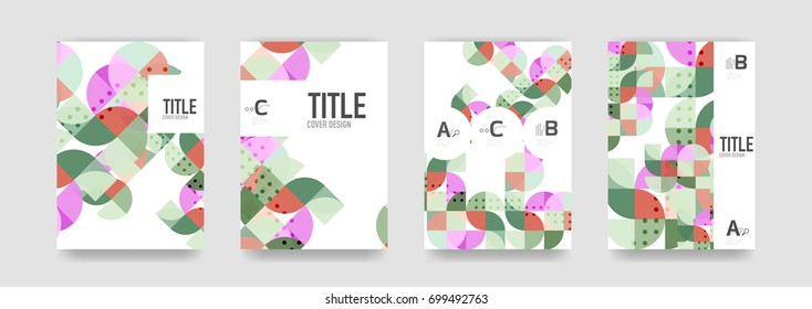 Set of brochure cover templates - Shutterstock ID 699492763