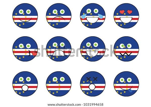 Set Cape Verde Emoji Stock Illustration 1031994658